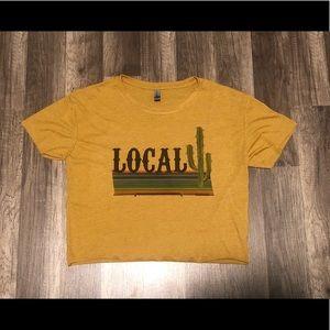 Next level crop top gold *local* women's Medium